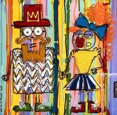 David FERREIRA - Pintura - Toto et sa femme
