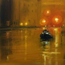 Sigrid NIENSTEDT - Peinture - Venedig mit Boot