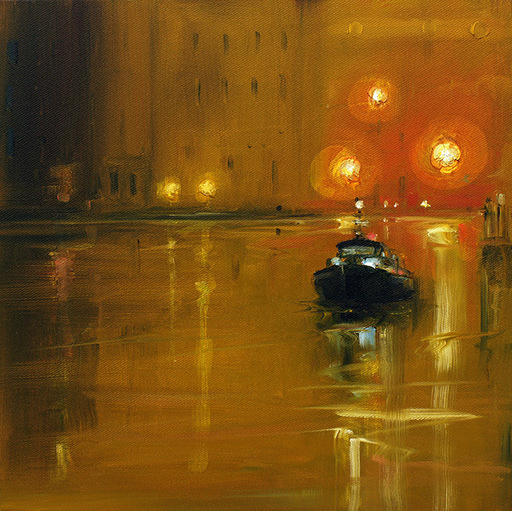 Sigrid NIENSTEDT - Painting - Venedig mit Boot
