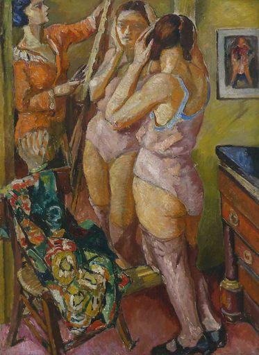 Marie Mela MUTER - Pintura - Model by the Mirror / Portrait of a Man
