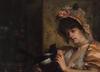 Louis Maurice BERTHE (XIX-XX) - Jeune femme à l'oiseau
