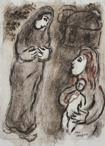 Marc CHAGALL - Drawing-Watercolor - Agar Chassée