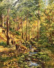 Diana MALIVANI - Pittura - In the Autumn Forest
