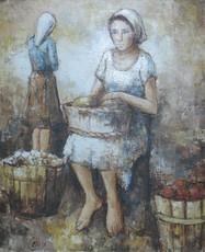 Louis-Ferdinand CÉLINE - Peinture - At the Market