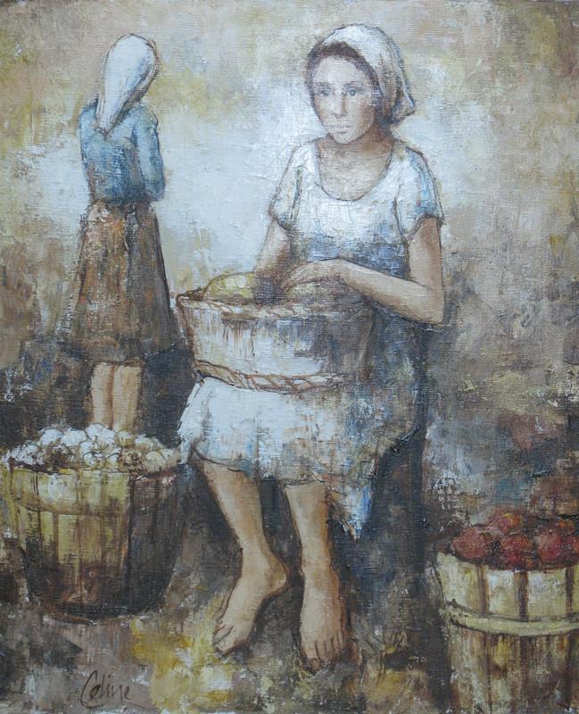 Louis-Ferdinand CÉLINE - Pintura - At the Market