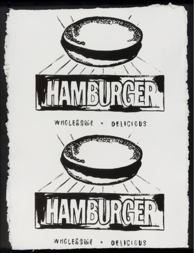 Andy WARHOL - Stampa Multiplo - Double Hamburger