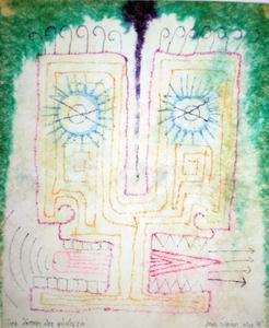 Marc ADRIAN - Dibujo Acuarela - Der Dämon der Gärtnerei