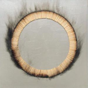 Bernard AUBERTIN - Gemälde - Dessin de feu circulaire