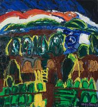 Maurice WYCKAERT - Pintura - Rouge le soir