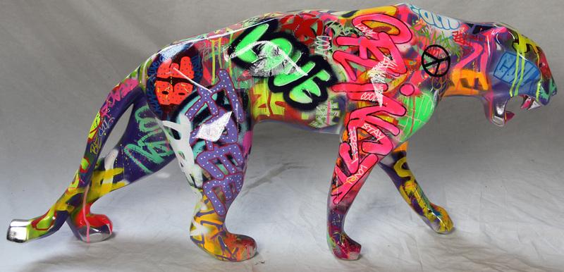 richard orlinski wild panther tagu 1697731 place de march artprice. Black Bedroom Furniture Sets. Home Design Ideas
