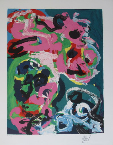 Karel APPEL - Print-Multiple - L'Eloge de la Folie.  5 lithographs