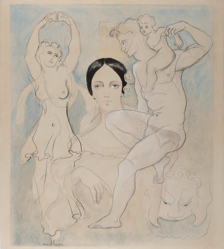 弗朗西斯·毕卡比亚 - 水彩作品 - Pilar