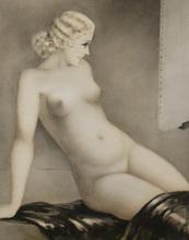 Louis ICART - Print-Multiple - «Le Modèle» 1933