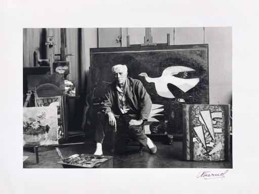 Luc FOURNOL - Fotografia - Georges Beaque dans son atelier