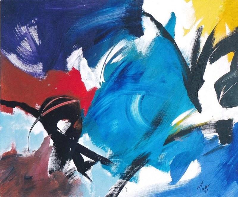Jean MIOTTE - Painting - Le grand jeu