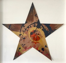 """Damien HIRST (1965) - """"Beautiful Hullabaloo Star Spin Painting for Stephanie"""""""