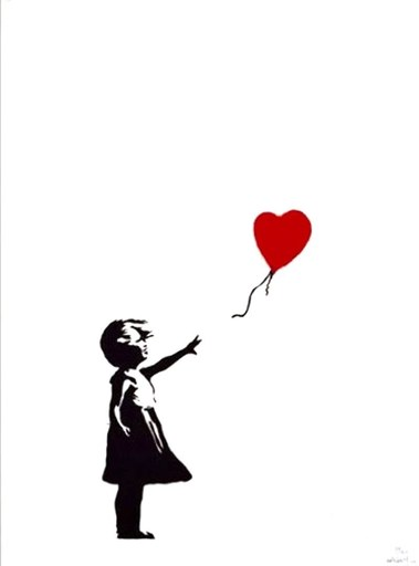 BANKSY - Stampa-Multiplo - Girl With Balloon