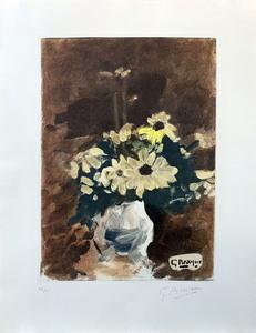 Georges BRAQUE - Print-Multiple - Vase de fleurs jaunes