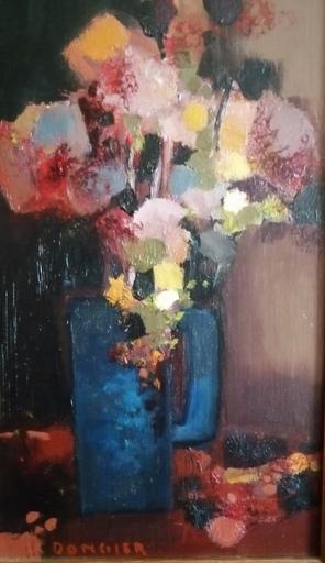 DONGIER - Pintura - Vase de fleurs