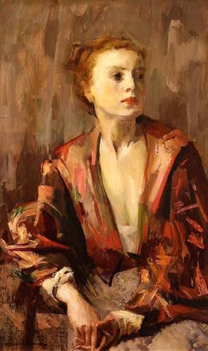 Giuseppe AMISANI - Painting - Il Kimono rosso