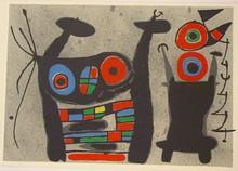 Joan MIRO (1893-1983) - Le Lézard aux Plumes d'Or. Planche XII.