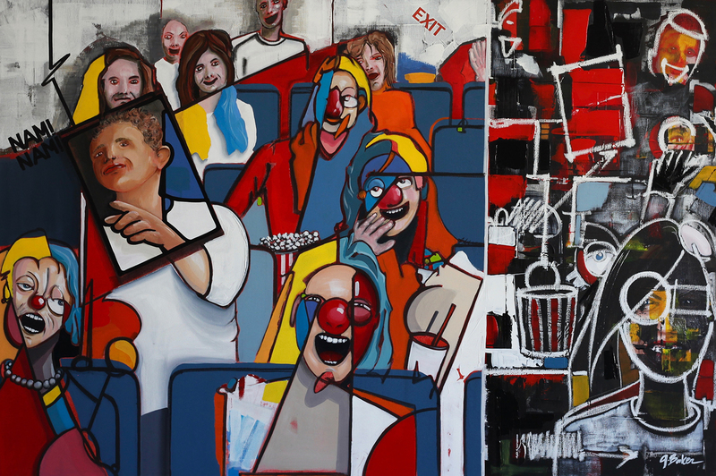 """Ghazi BAKER - Painting - Watching """"the party"""""""