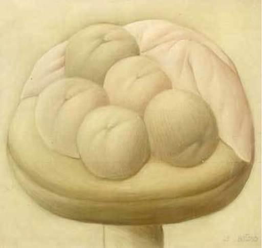 Fernando BOTERO - Painting - Naturaleza muerta con frutas,