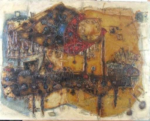 Théo TOBIASSE - Painting - Le mouton sous un soleil bleu