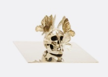Philippe PASQUA - Sculpture-Volume - Sculpture vanité aux papillons