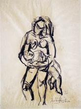 Ibrahim KODRA - Pintura - Maternità