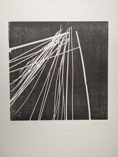 "Hans HARTUNG - Estampe-Multiple - ""Sans titre"""