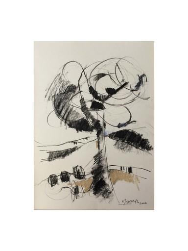 Michalis CHARALAMBIDES - Disegno Acquarello - The Tree