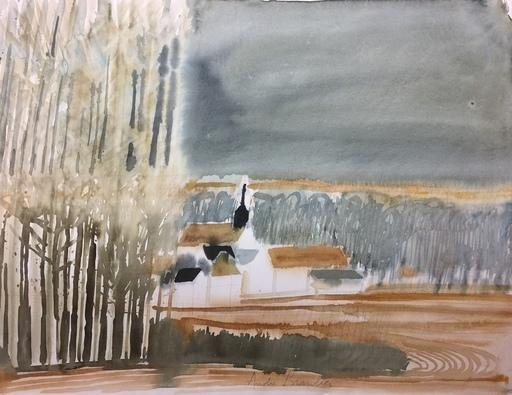 André BRASILIER - Disegno Acquarello - Loupeigne