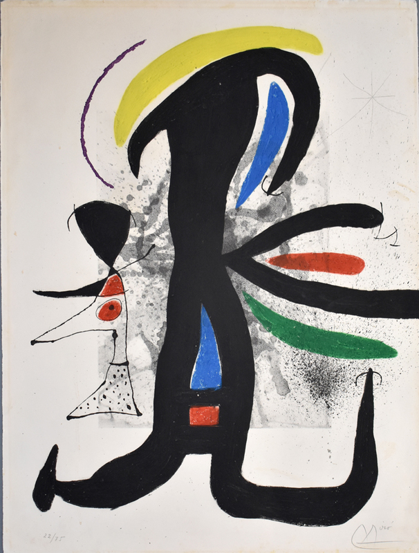 Joan MIRO - Estampe-Multiple - So and So and her Little Husband