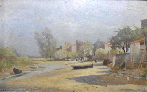 François Édouard BOURNICHON - Painting - Bords de Loire
