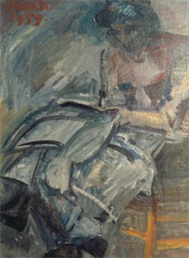 Primo CONTI - Gemälde - Cucitrice