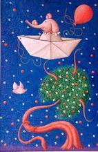 Beppe FRANCESCONI - Pintura - Verso l'isola di Ponza