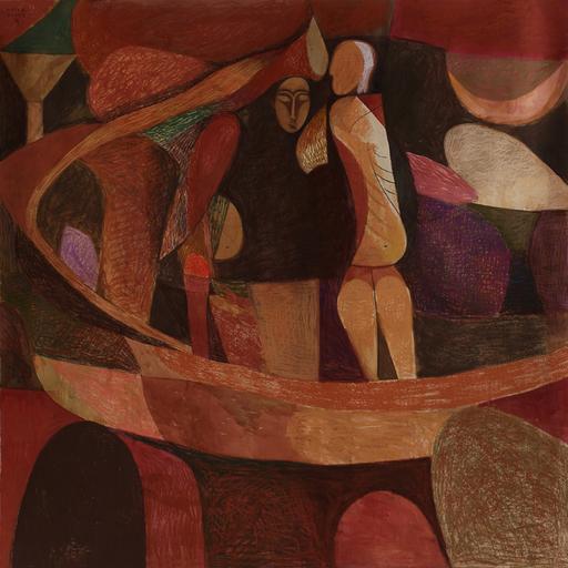 Amar DAWOD - Pintura - The Ta-Sin of the Divine Will II