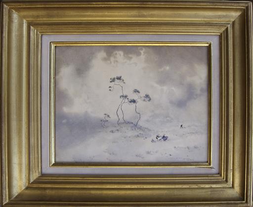 Ernest Pierre GUÉRIN - Dibujo Acuarela - La dune, Bretagne