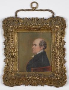 "Pierre-Jean A. MOURLAN - Miniature - ""Professor Antoine Dubois"", Large Portrait Miniature"
