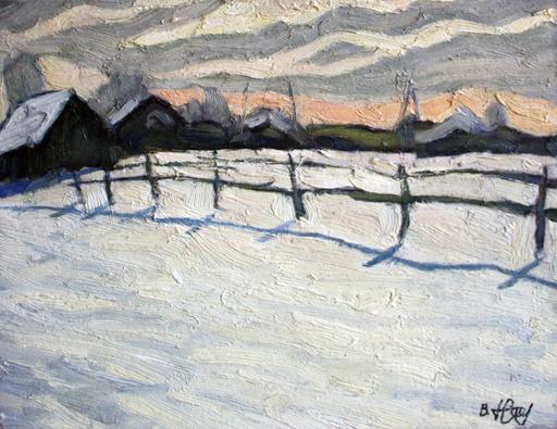 Valeriy NESTEROV - Gemälde - Danilikha Village. Moscow district