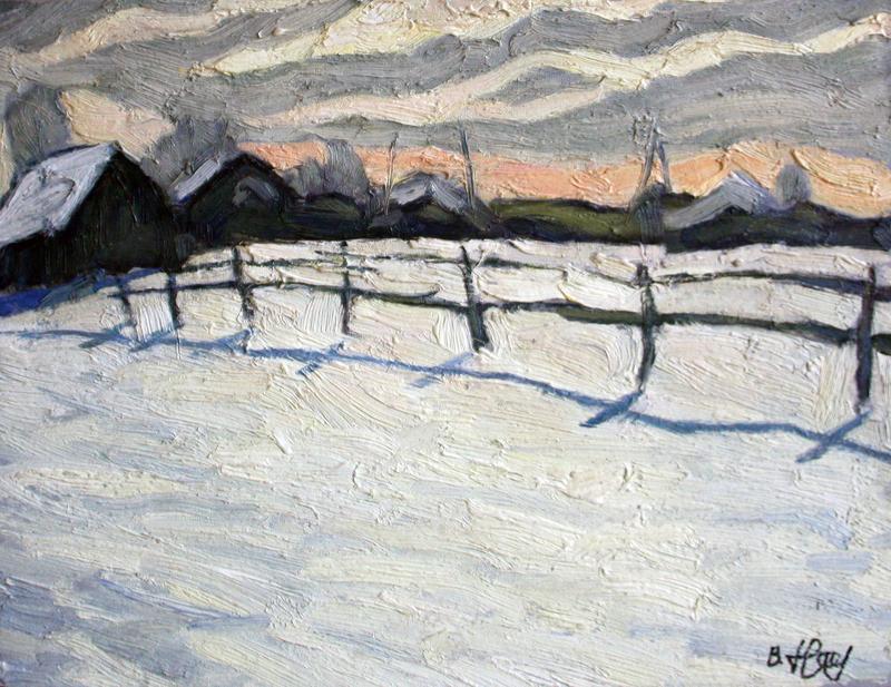 Valeriy NESTEROV - Painting - Danilikha Village. Moscow district