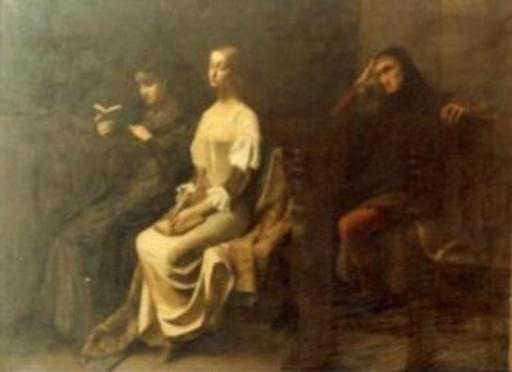 André CASTAIGNE - Pintura - Dante et Béatrice