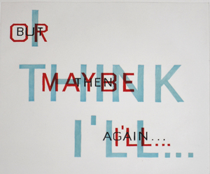 Ed RUSCHA - Stampa Multiplo - Indecision