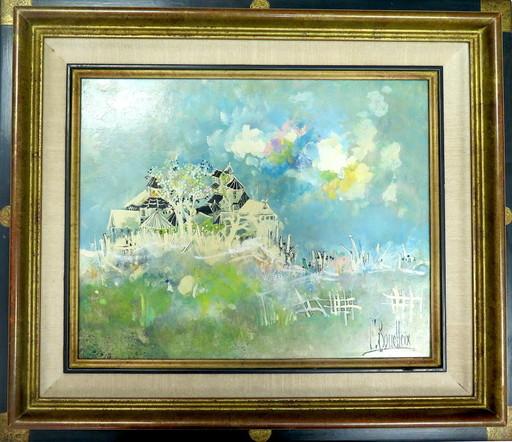 François BOUCHEIX - Peinture - Village sur la colline