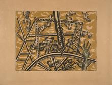 Fernand LÉGER (1881-1955) - L'echafaudage au soleil