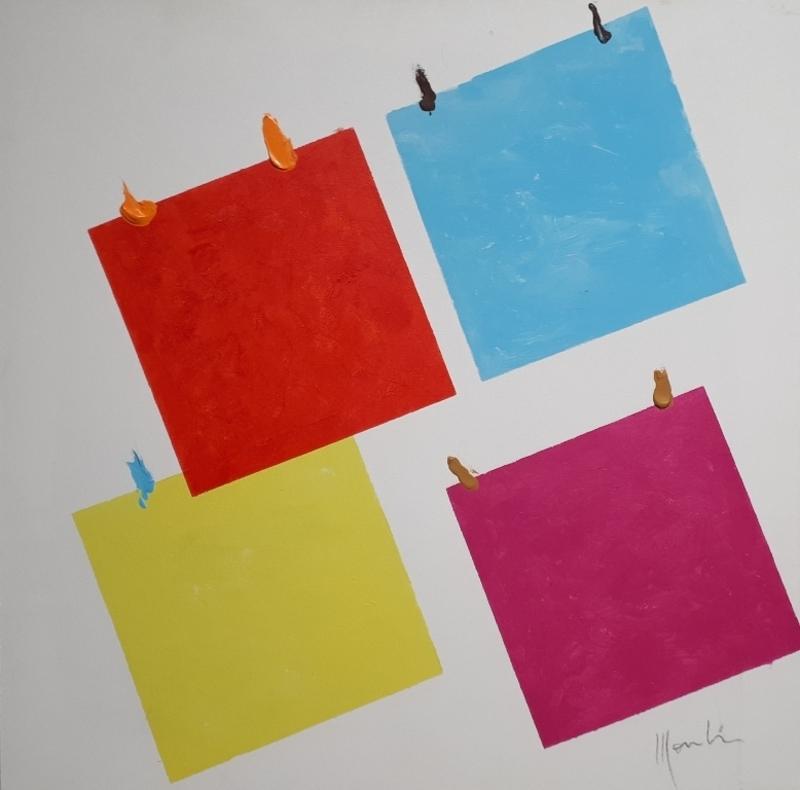 Aldo MONDINO - Peinture - Art Collage