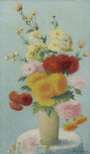 Achille LAUGÉ - Painting - Chrysanthèmes dans un vase
