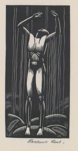 Rockwell KENT - Stampa-Multiplo - Man Under a Waterfall