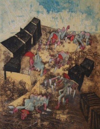 Roberto MATTA - Estampe-Multiple - L´oeil de la memoire